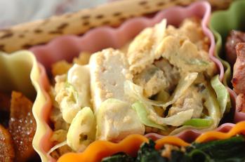 アサリと豆腐の卵とじ