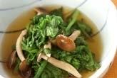 菊菜とシメジのサッと煮
