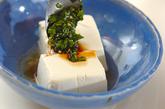 温豆腐のニラダレの作り方2