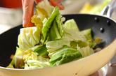 春キャベツのサーディン炒めの作り方1
