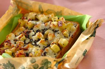 サツマイモのダブルチーズトースト