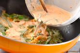 タコとキムチのちぢみの作り方1