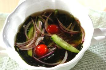 残り野菜のサッパリ冷やしスープ