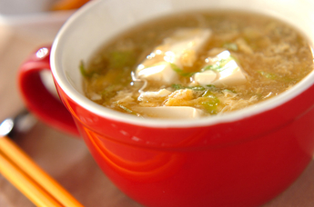 豆腐のヘルシースープ
