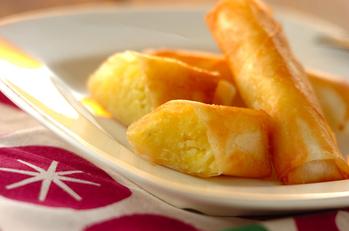 サツマイモのチーズ春巻き