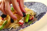 タコとアスパラのパスタの作り方4