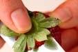 イチゴのハチミツマリネの下準備1