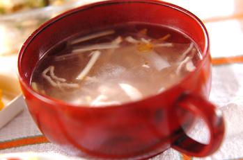 ネギとベーコンの中華スープ