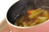 フキとゴボ天の煮物の作り方3