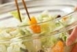 白菜とみかんのサラダの作り方2