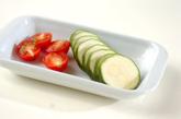 ズッキーニとトマトの炒め物の作り方1