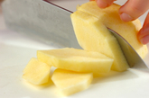 バニラアイス和風アップルソースの作り方1