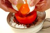 トマたまそぼろご飯の作り方2
