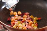 ミックスビーンズとソーセージの炒め物の作り方1