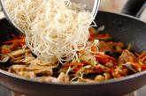 鶏肉とシイタケのオイスター素麺の作り方2