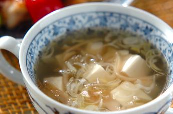 ザーサイと豆腐のスープ