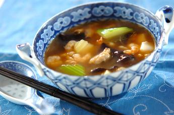 シーフードとセロリの中華煮