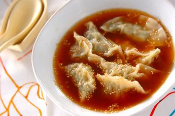 ピリ辛水餃子