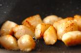 ホタテと冬瓜のミルク炒め煮の作り方1