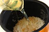 カキの炊き込みご飯の作り方2