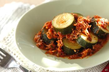ズッキーニとツナのトマト煮