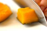 カボチャのココナッツ汁粉の作り方1
