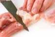 鶏肉ソテー温泉卵のっけの下準備1