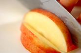簡単うす焼きリンゴパイの下準備1