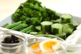 菜の花のニース風サラダの作り方1
