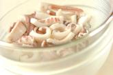 イカとセロリのショウガ和えの作り方1