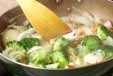 ブロッコリーの塩炒めの作り方1