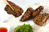 豚肉の2色ゴマ揚げ焼きの作り方4