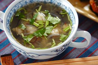 ホタテと春雨のスープ