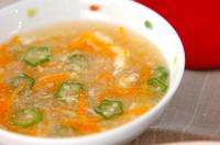 せん切りニンジンのスープ