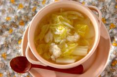 ホタテと白菜のスープ