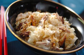焼きサバのショウガご飯
