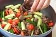 キュウリと牛肉の炒め物の作り方3