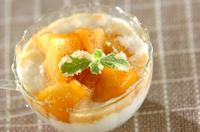 カラメルリンゴのせヨーグルト