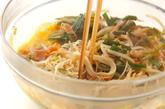 ゴーヤ素麺オムレツの作り方3