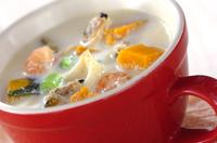 シーフードミルクスープ
