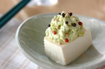 アボカド豆腐のせ