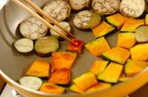 カボチャとナスの焼き浸しの作り方1