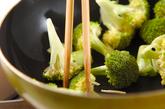 ブロッコリーと貝柱炒めの作り方1