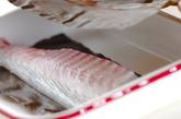 昆布〆鯛のカルパッチョの作り方1