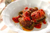 ピーマンの肉詰めトマトソース