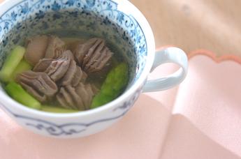 砂肝スープ