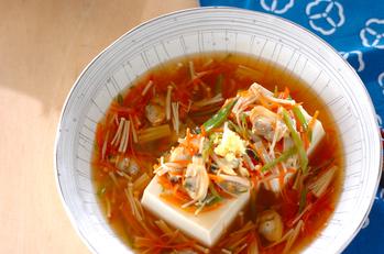 豆腐のアサリあんかけ