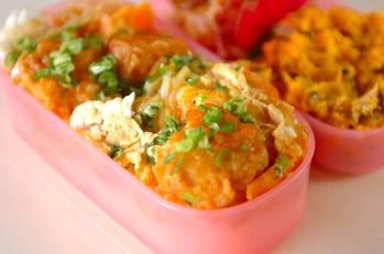 鶏唐の卵とじ