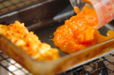 すりおろしニンジンの卵焼きの作り方3