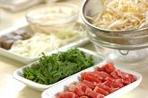 牛肉とコンニャクのサイコロステーキの下準備1